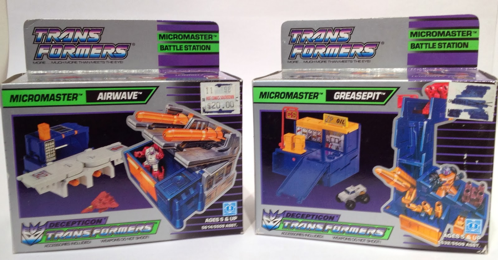 Transformers G1 Weapon Micromasters Grease Pit Shell Original Figure Accessory