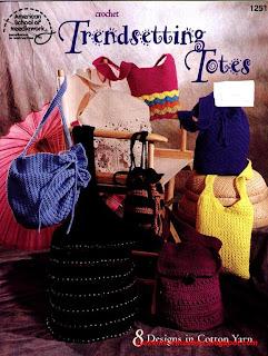 Журнал Вязаные сумки Crochet Trendsetting Totes
