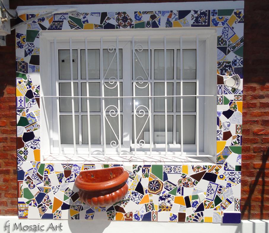 MOSAICO CREATIVO de fj Mosaic Art: Ventana en Trencadis
