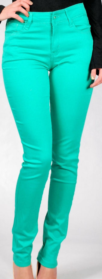 Waisted Colored Skinny Jeans