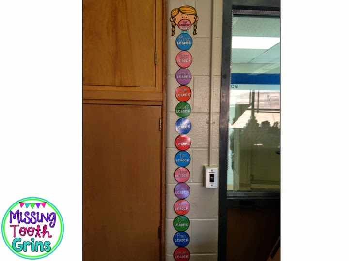 Keep track of students classroom jobs with a clip chart