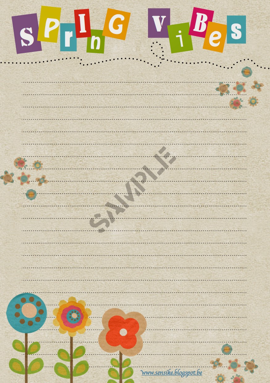 briefpapier spring vibes, stationery