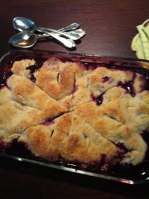 homemade pie from berries