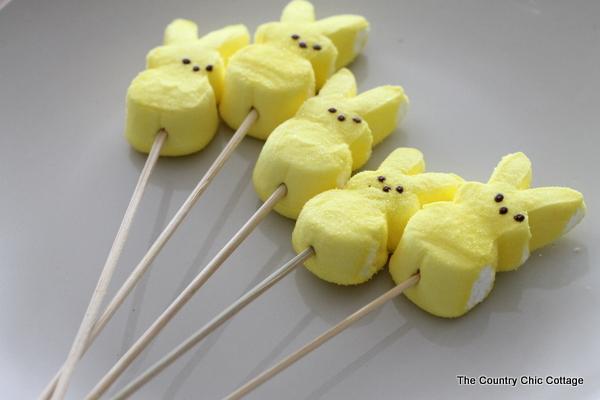 Easter Dessert -- Chocolate Covered Peeps Marshmallows for Kids