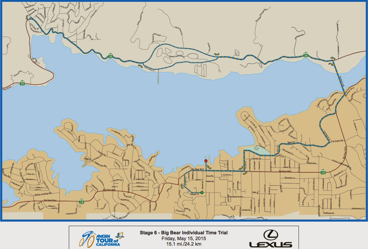 Tour of California Stage 6 Map 2015