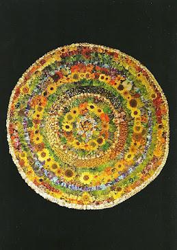 Mandala dedicada al Dalai Lama.