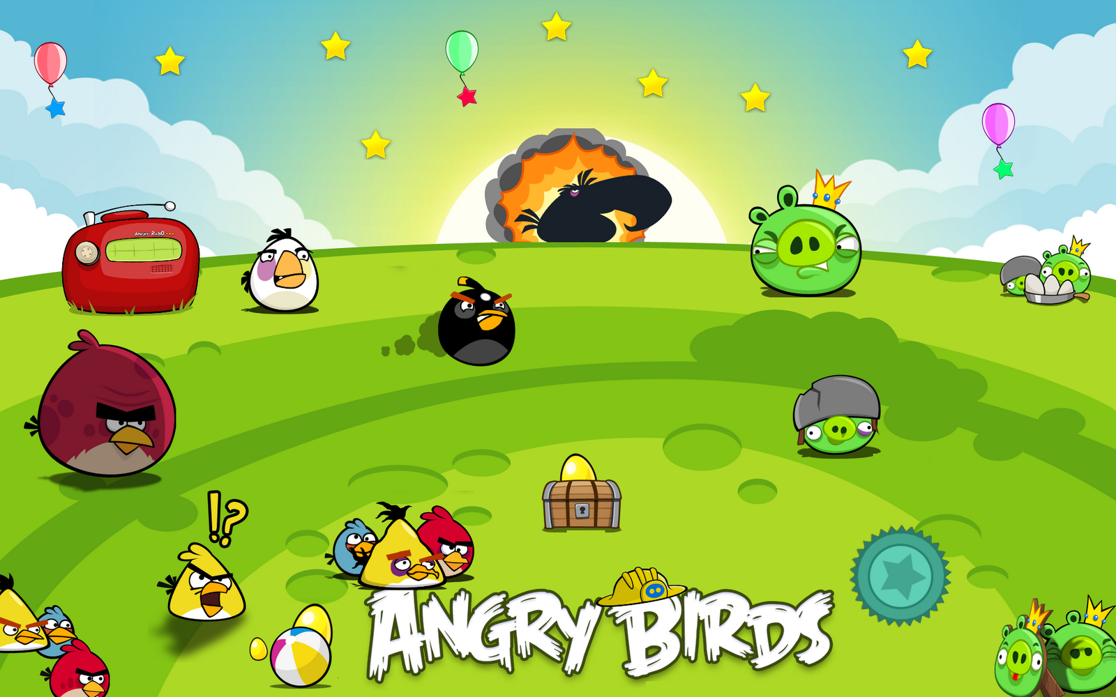 Game Angry Birds For PC/Laptop, Handphone Android & Symbian