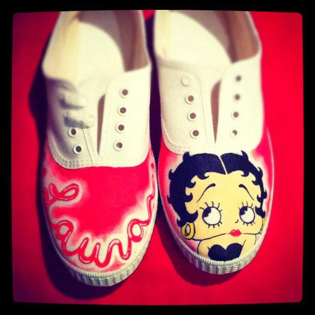Zapatillas personalizadas Betty Boop