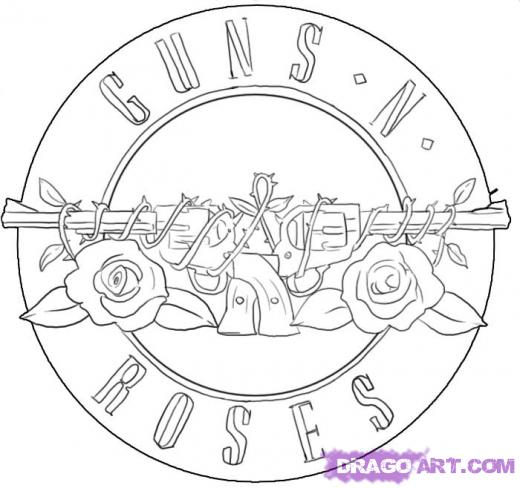guns and roses tattoos designs