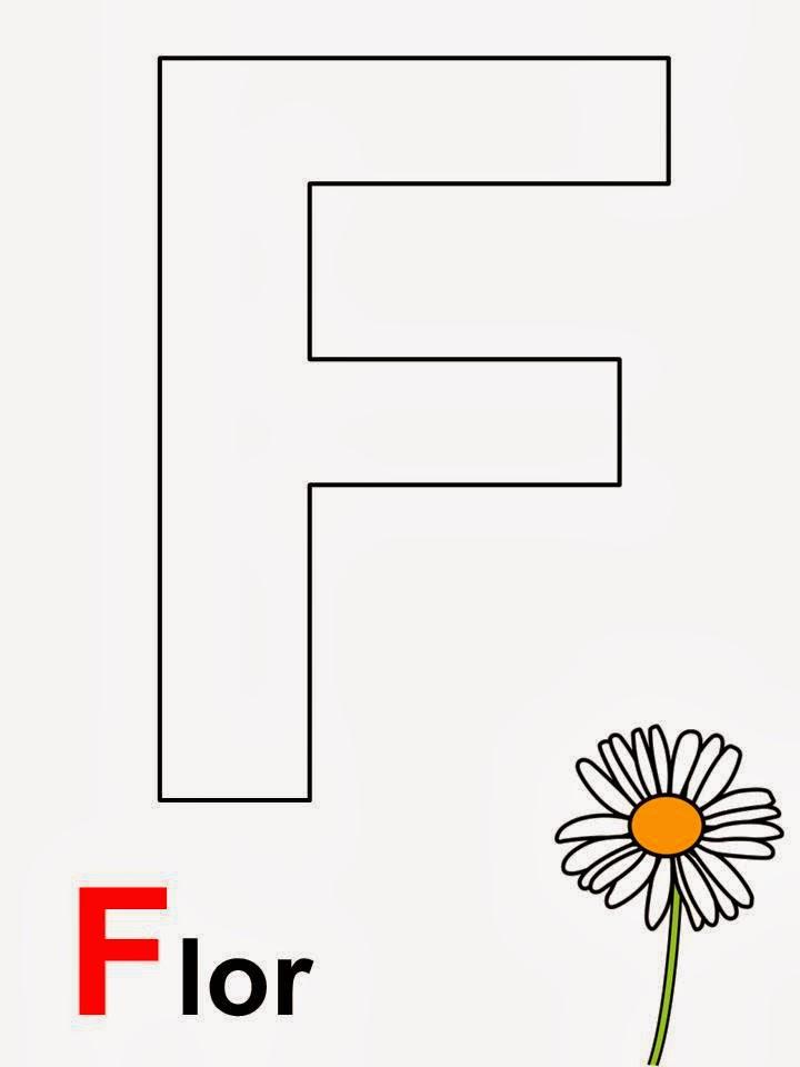 Alfabeto letra F Flor