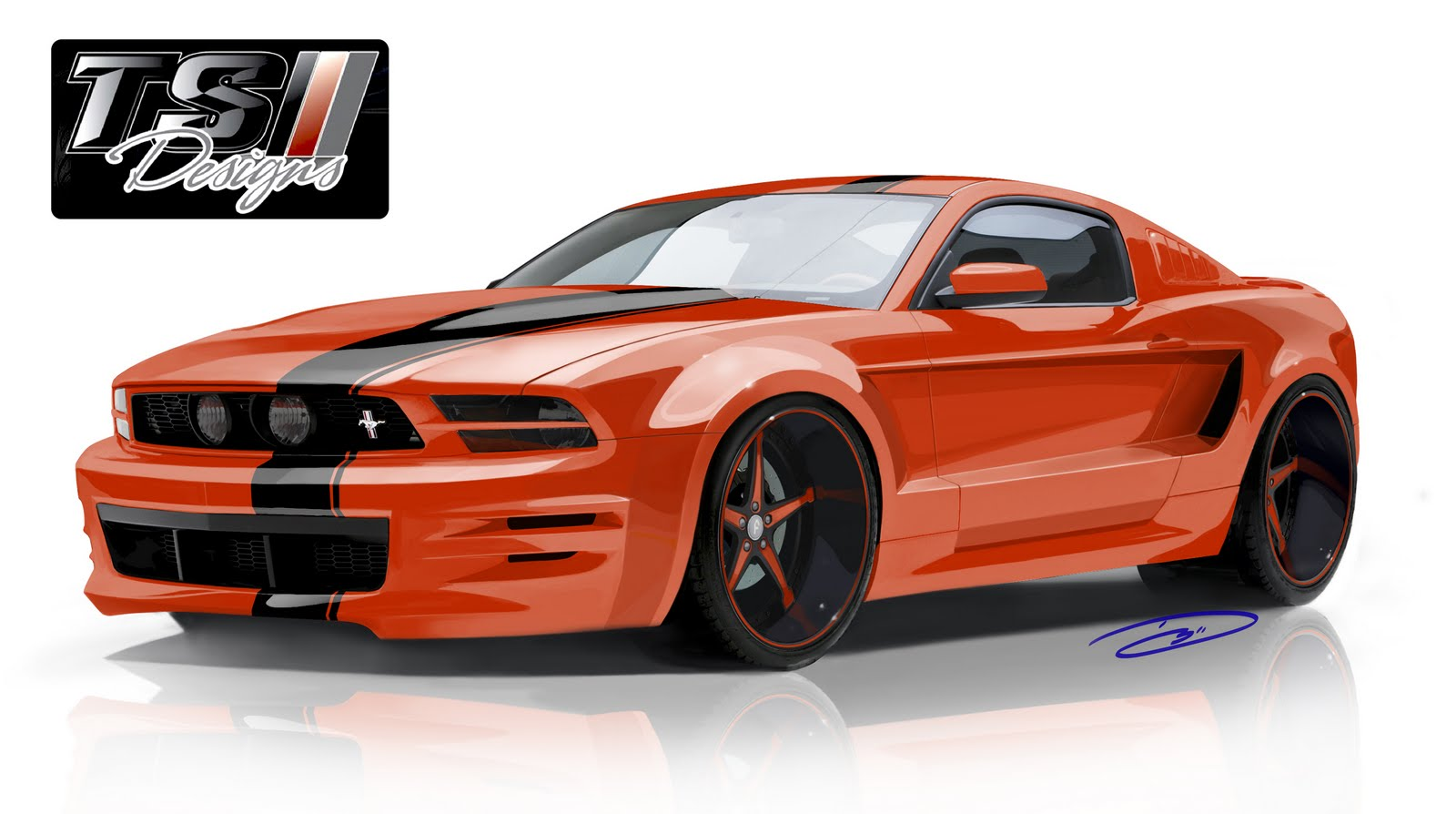 doug breuninger ts designs sema 2011 wide body 5 0 mustang. Black Bedroom Furniture Sets. Home Design Ideas
