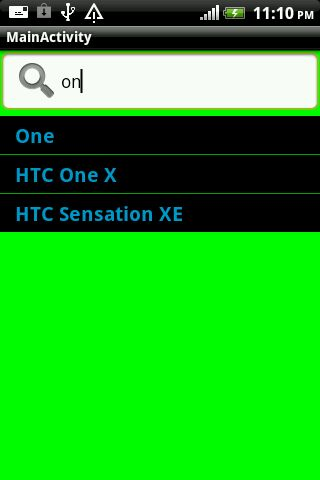 Android Search Functionality with ListView same as Google ...