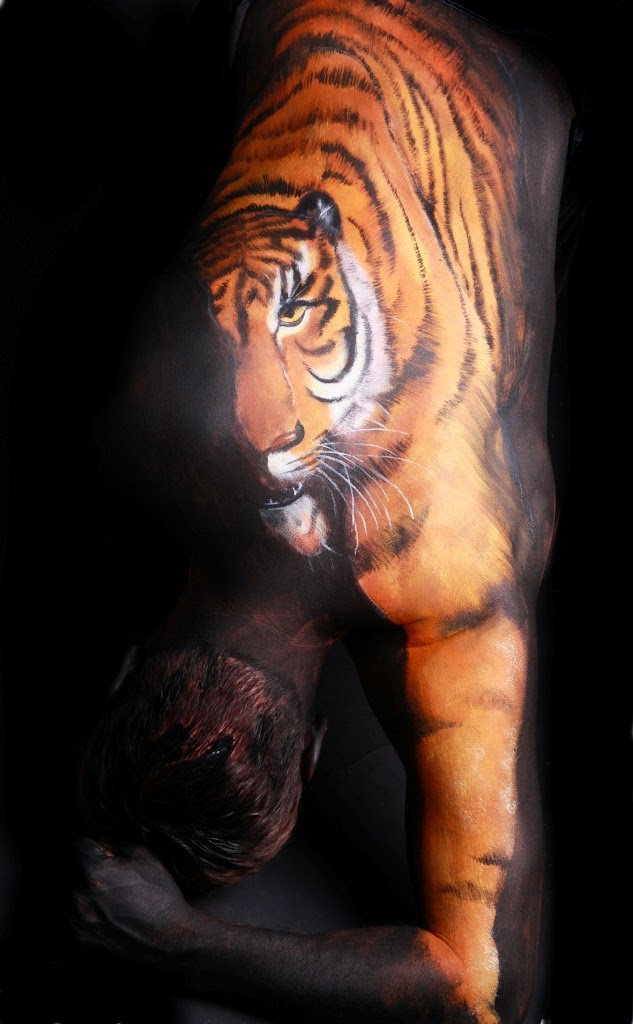 10 fotos de Body Paiting - Animales 33