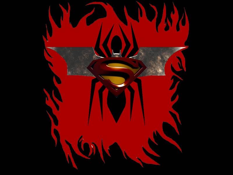 evolusi logo di dada superman batman dan spiderman