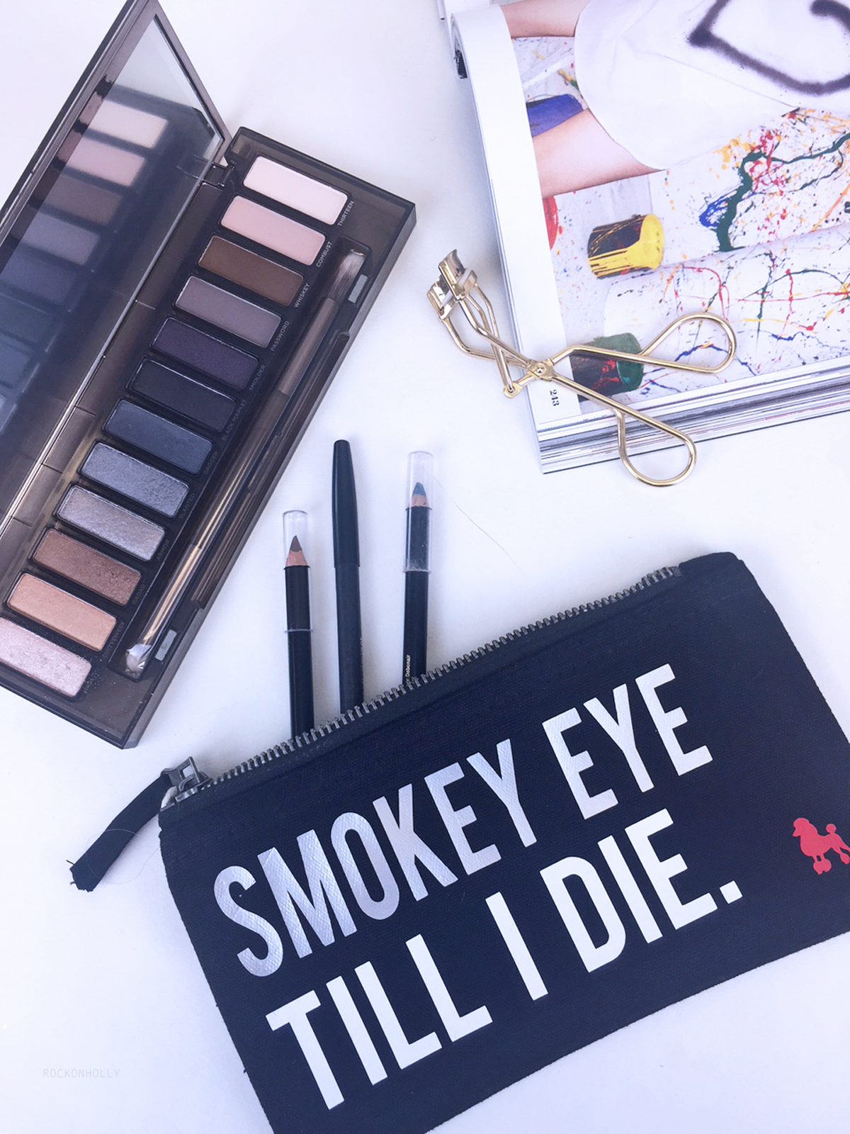 Rock On Ruby Slogan Make Up Bag