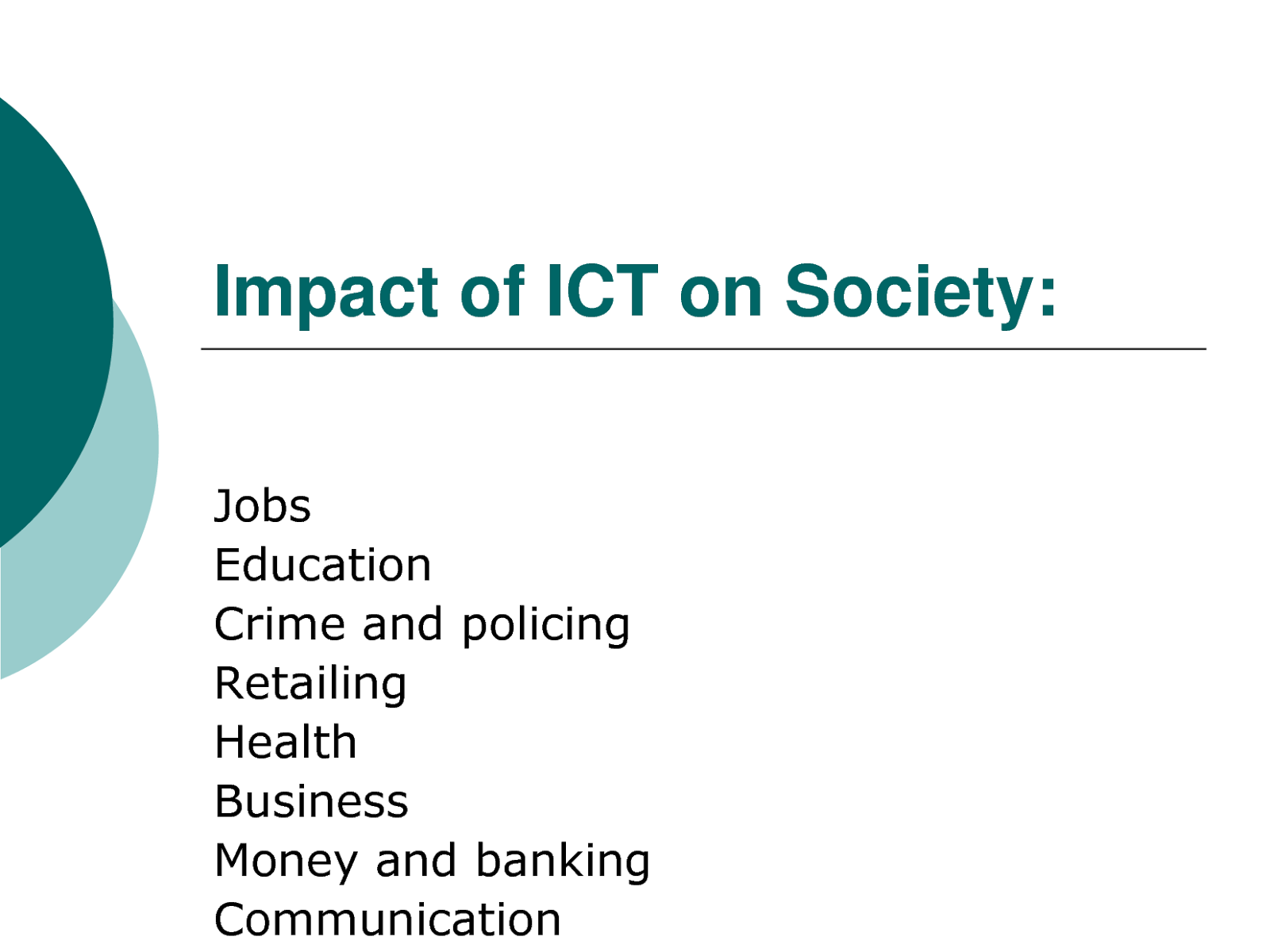 ict and its impact
