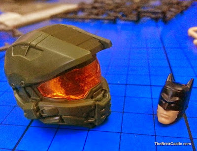 SpruKits size difference level 1 and 3 Batman Halo
