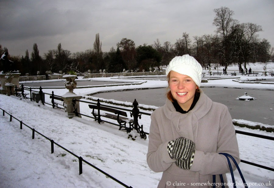 the Italian Gardens in Winter - Hyde Park