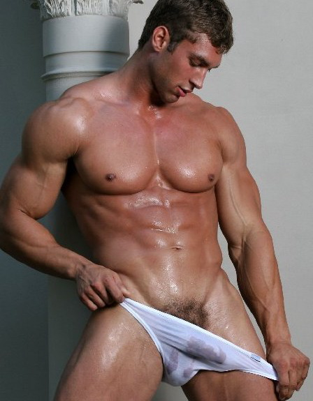 male underwear model Wet