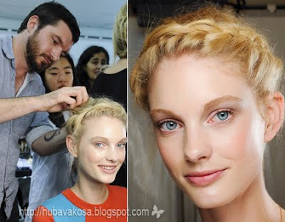 Как е създадена прическата на Valentino пролет-лято 2012