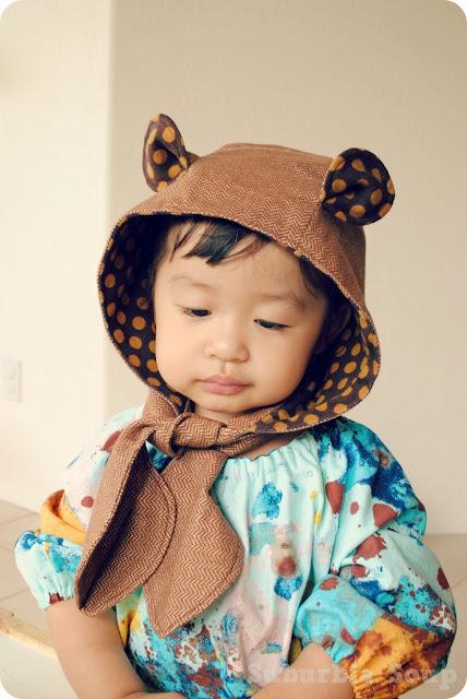 Tutorial bufanda con capucha para niña