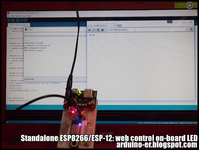 Arduino er standalone esp web control on