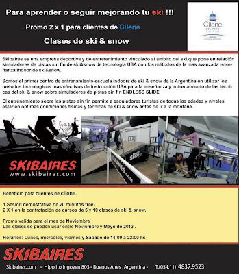 Promoción 2x1 para clientes de Cilene del Faro - Clases de Ski y Snow