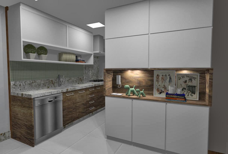 Ideias da Bê!: #COZINHA : uma cozinha com estilo Apto Mata da Praia #8E6A3D 1214 818