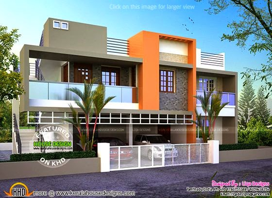 Modern Flat Roof House Kerala Home Design And Floor Plans