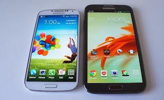 , Foto Samsung GAlaxy S4 vs Galaxy Note 3 Daftar Harga Terbaru 2014
