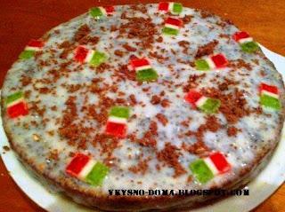 Маковый тортик со сметанным кремом