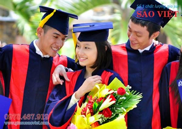 Gia sư có thành tích cao trong học tập, nắm vững chuyên môn và giàu kinh nghiệm giảng dạy. Gia sư Sao Việt luôn sát cánh cùng các em học sinh, mong muốn các em tiến bộ từng ngày.