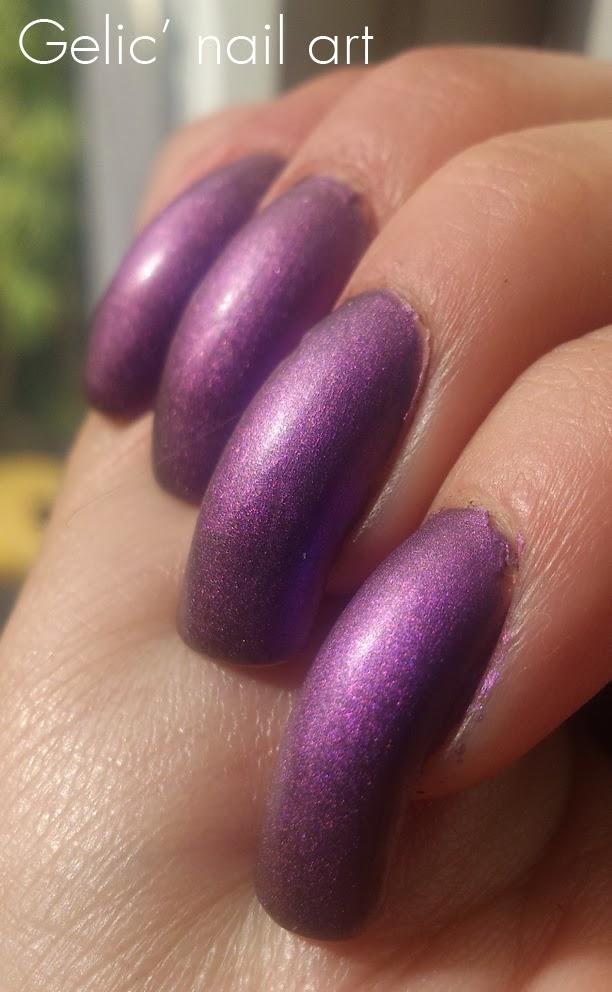Gelic\' nail art: HM Matte Metallic - Purple Metal, swatch