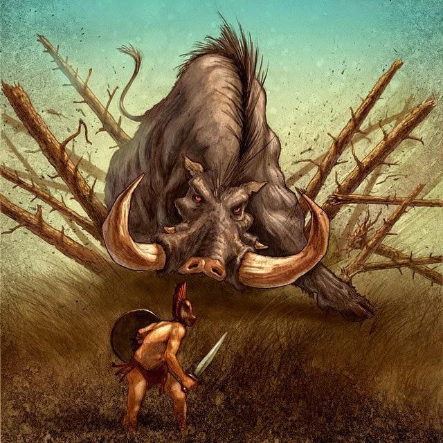 Percy Jackson's Greek Gods: el cerdo de Artemisa
