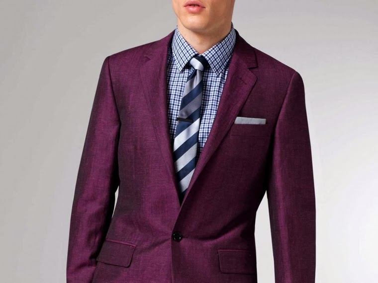 Indochino Burgundy Linen Suit