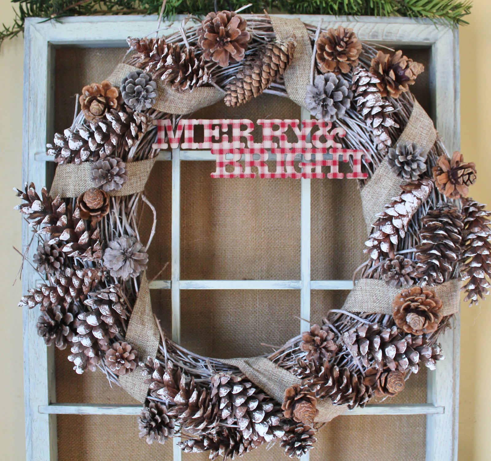 DIY Rustic Pine Cone Wreath