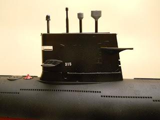 maqueta del submarino de propulsión convencional chino clase sung
