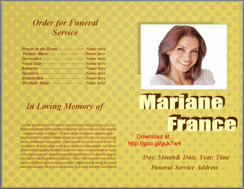 Free Funeral Program Template Download BesikEightyCo