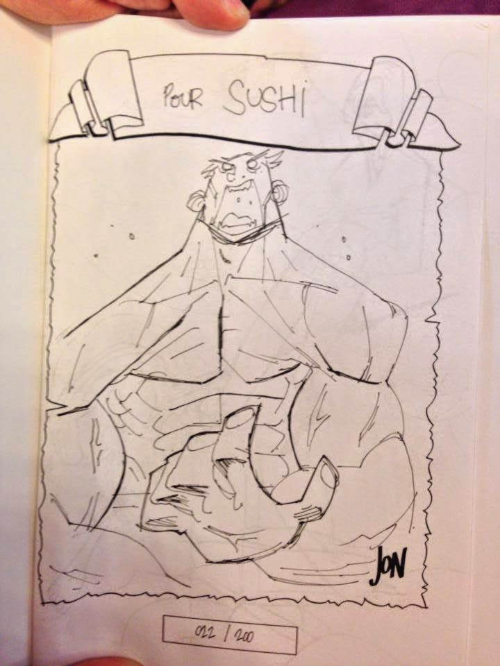 jonathan jon lankry 2D artist animation comic book animated sketchbook 2014 dedicace hulk bruce banner marvel avengers villain