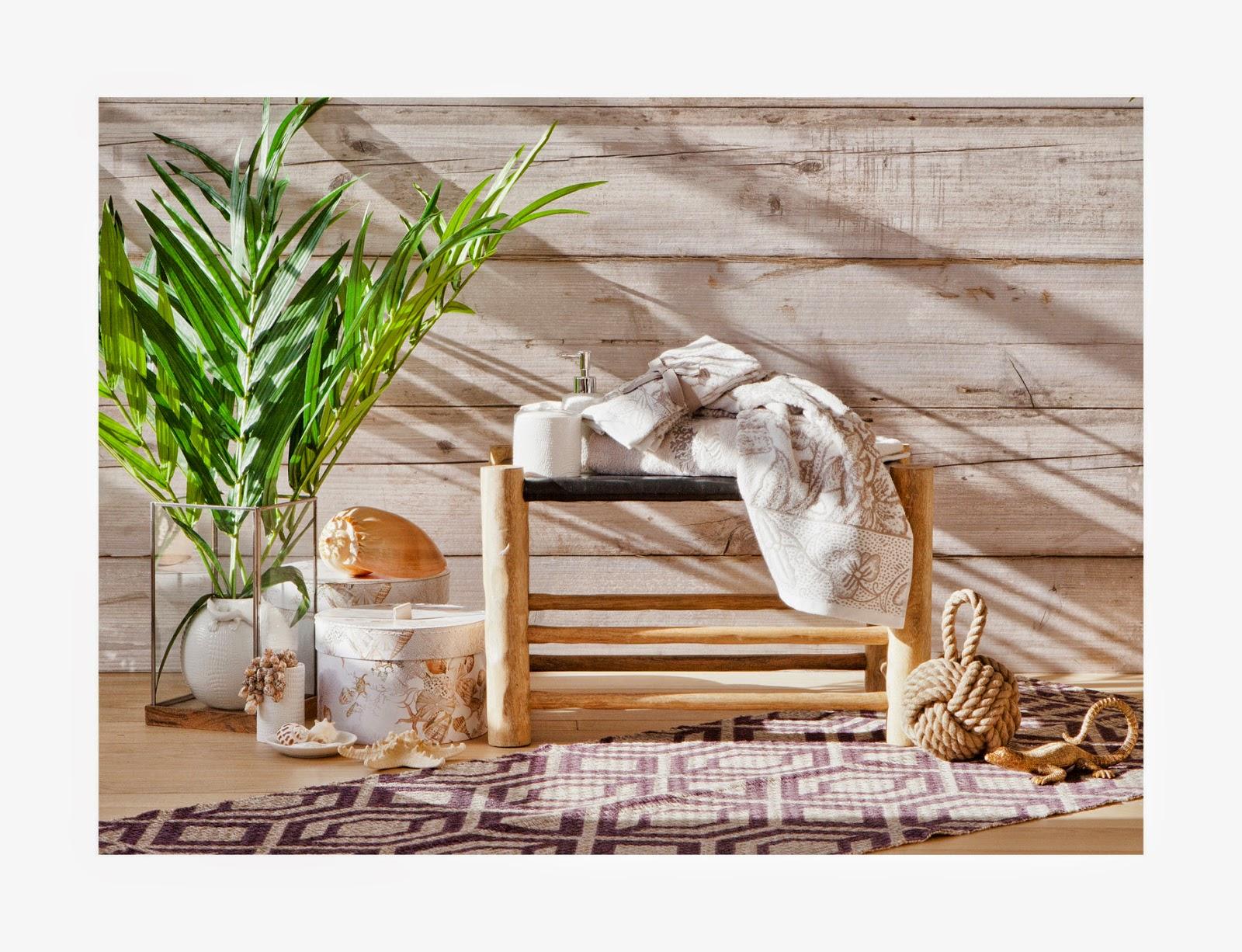 ZARAHOME: complementos para el baño en colores claros y ligeros