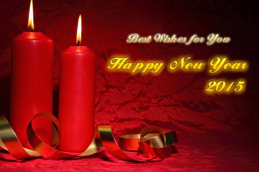 Candles Happy New Years 2015 Wishes Greetings Cards Images