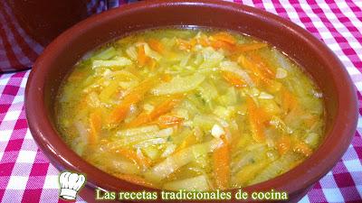 Sopa juliana receta fácil