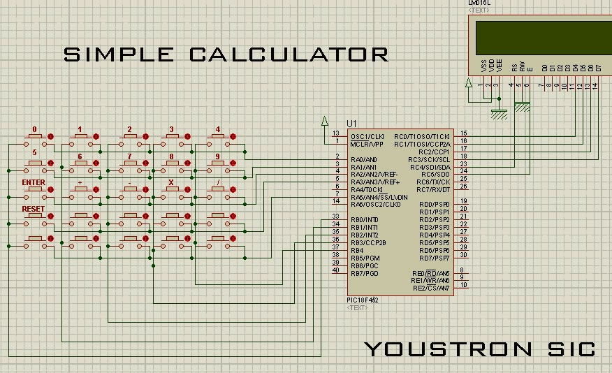 Microcontroller projects for beginners simple calculator project all other connections are same ie pin 13 14 crystal 1231gnd 11132power 5v explanation ccuart Gallery