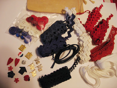 Patriotic grab bag of trims
