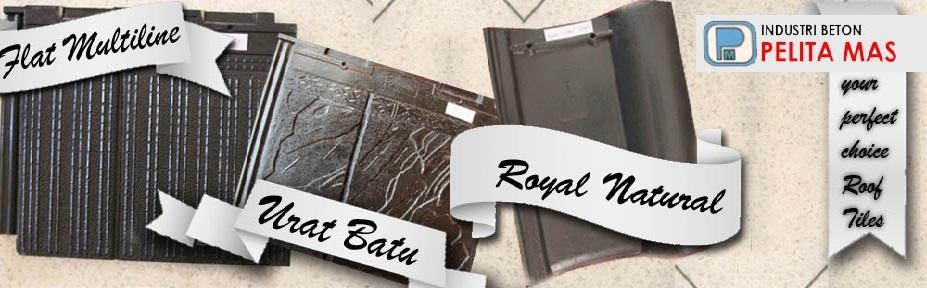 Genteng royal, Genteng flat urat batu, Genteng beton datar