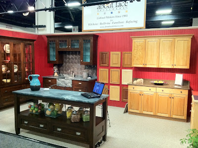 Kitchen cabinets and other hardware at the New England Home Show