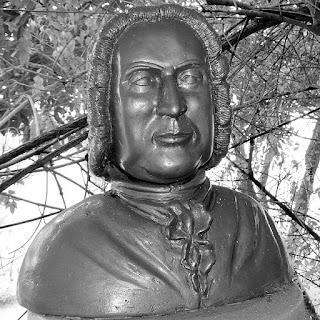 Busto de Johann Sebastian Bach: compositor alemão.