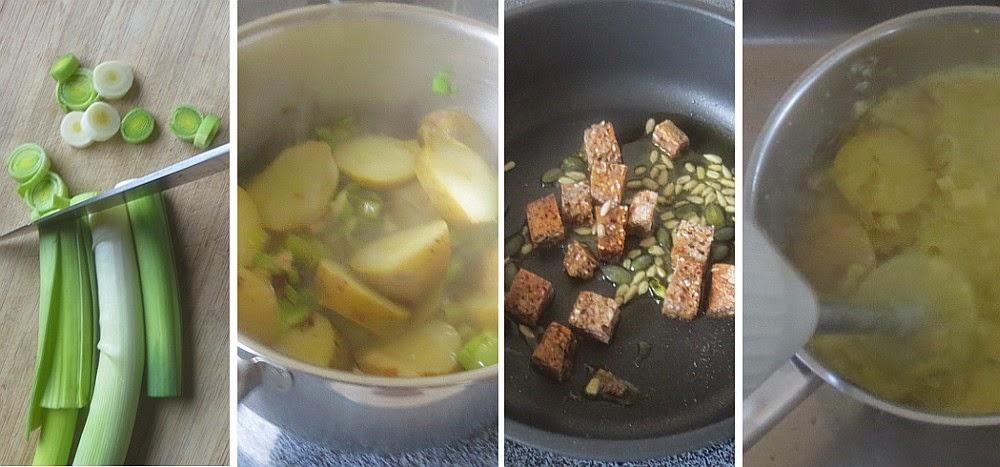 Zubereitung Kartoffel-Lauch-Suppe