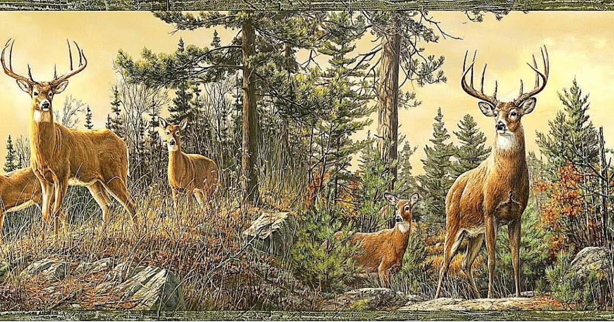 Deer wallpaper murals free hd wallpapers for Deer mural wallpaper