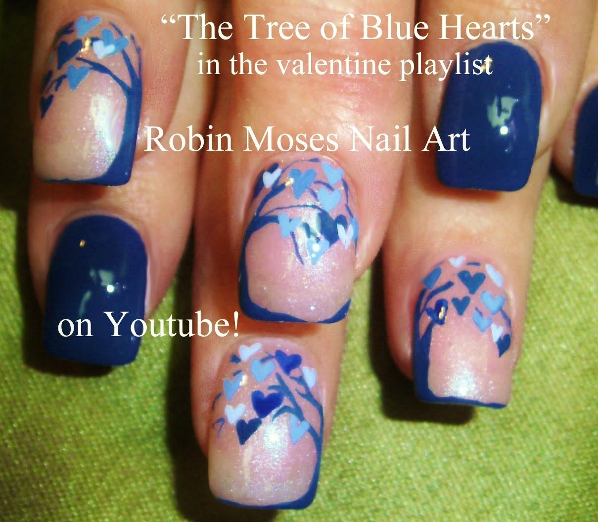Robin moses nail art valentine nails cute valentine nails tree of love nail art prinsesfo Images